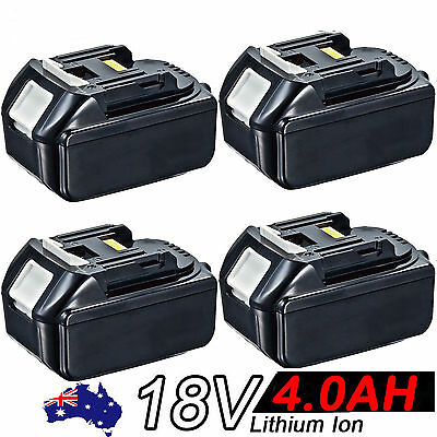 4x 18V 4.0AH Battery For Makita BL1840 BL1830 BL1815 LXT Lithium Ion Cordless