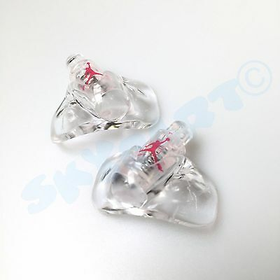 1 Pair New Jordan 5 Clear with Red Jumpman Replacement lace locks Fire Red OFF
