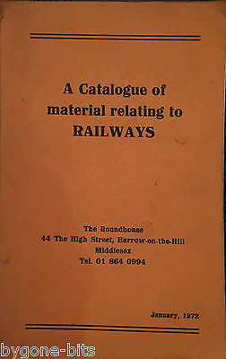 A Catalogue of material relating to RAILWAYS Book 1972 Trains