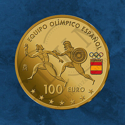 Spanien - Spanisches Olympia Team - 110 Euro 2016 PP  - 100 Euro Gold + Silber