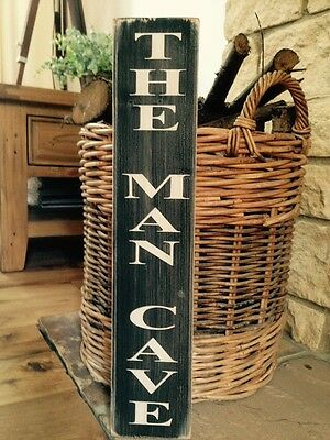 THE MAN CAVE SIGN DOOR SHED GARAGE PLAQUE GIFT DAD Vintage  Grandad Wooden