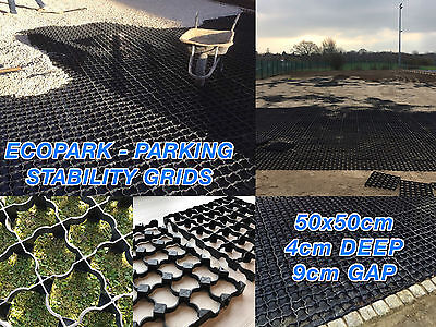PLASTIC PAVING GRID CAR PARKING GRIDS GRAVEL DRIVE GRASS PARKING DRIVE DRAINAGEp