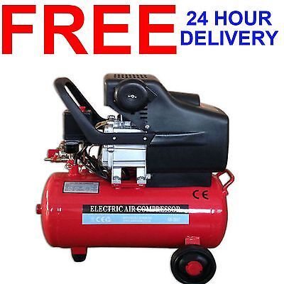 24 Litre 2850 Rpm 115 Psi 8 Bar Twin Outlet 2Hp Electric Air Tool Compressor New