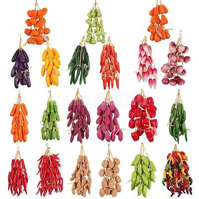 Five Strings Artificial Fruits and Vegetables Kitchen Wall Hanging Decoration