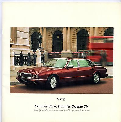 Daimler Six 4.0 & Double Six 6.0 X300 1996-97 UK Market Sales Brochure