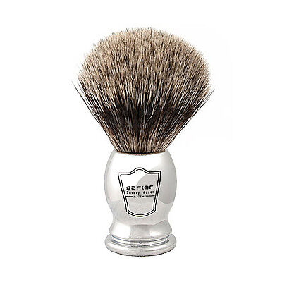 Parker Safety Razor Pure Badger Chrome Handle Handmade Shaving Brush with Stand