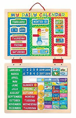 Childrens Educational Melissa & Doug My First Daily Magnetic Calendar Kids Toys