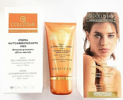 COLLISTAR crema AUTOABBRONZANTE SELF TANNING VISO effetto naturale stock lot