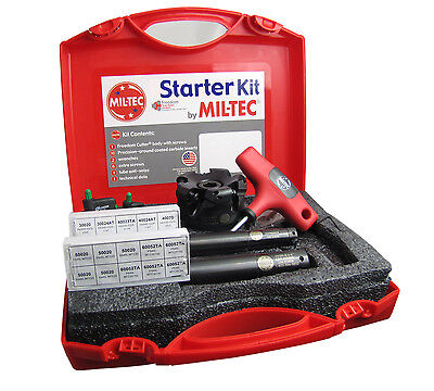 """Mil-Tec 4"""" Starter Kit with 3"""" Face Mill, 3/4 & 1"""" Insert-able End Mills USA"""