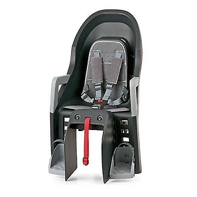 Polisport Guppy Seat with Portapacco Back Cover-Black
