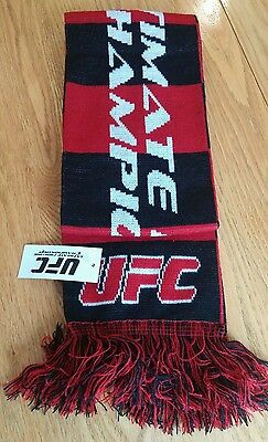 UFC Scarf red and black new with tags