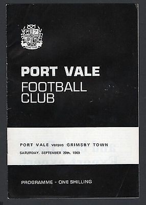 Port Vale v Grimsby Town Football Programme 1969/70