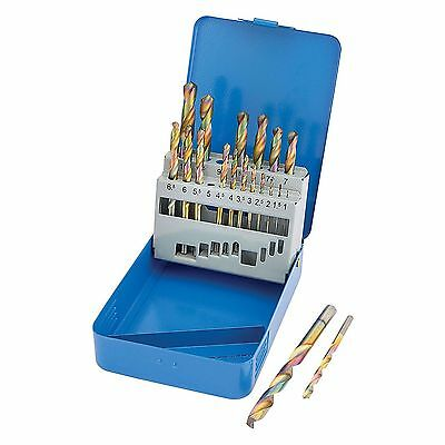 Draper 35244 19 Piece Cobalt Coated Metric HSS High Speed Steel Drill Bit Set