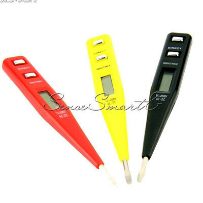 12V-250V AC DC Digital Electrical Tester Pen Probe Voltage Inductance Detector