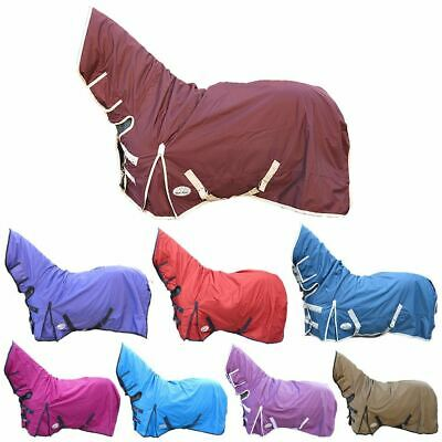 BOH 0g No Fill Rain Sheet 600D Rip Stop Fixed Combo Neck Waterproof Turnout Rug