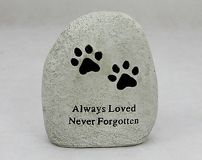 Paw Pet memorial stone effect cat dog animal memorial grave marker Remembrance