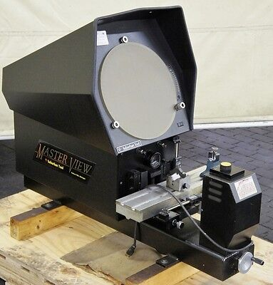 """SUBURBAN 14"""" Optical Comparator 10x Lens 4-1/2"""" x 19"""" Stage MASTERVIEW Model 14"""