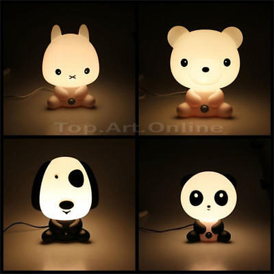 Cute Animal Panda Rabbit Dog Bear Cartoon Kids Desk Table Lamp Night Light Gift