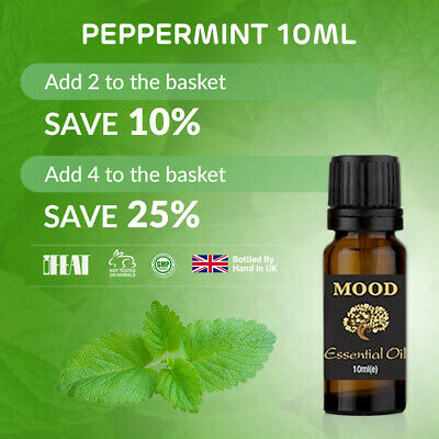Essential Oil Pure 10ml Aromatherapy Natural Oils Peppermint Organic Fragrances