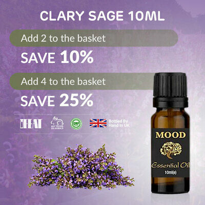 Clary Sage Essential Oil 10ml Natural Aromatherapy Essential Oils Diffuser
