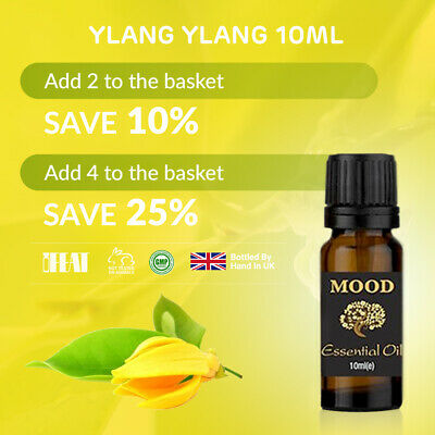 Essential Oil Oils Pure Aromatherapy Natural Ylang Ylang 10ml Fragrance Organic