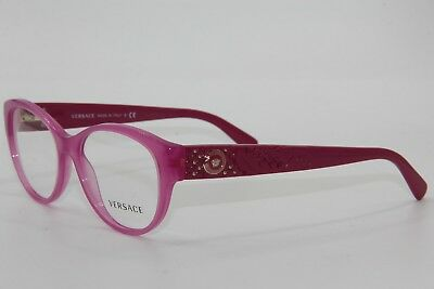 Brand New Versace Mod. 3195 5099 Pink Eyeglasses Mod.3195 Authentic Rx 54-17 !