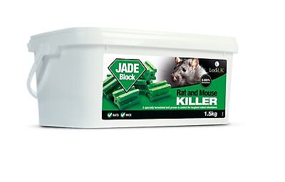 Rat & mouse jade poison expert Pest Control Full Strength killing blocks 3 Kilos