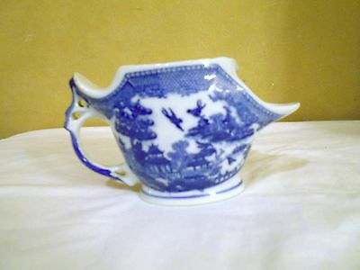 Beautiful Vintage blue and white tea steeper  made in Japan  EUC perfect cond.