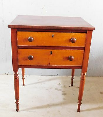 Antique Two-Drawer Stand