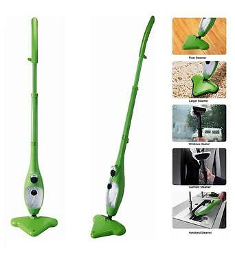 Steam H2O Mop cleaner Cleaning 5-in-1 steamer Floor Carpet Window Garment
