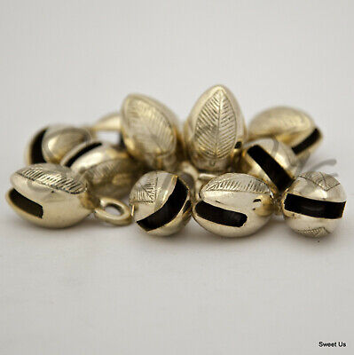"""One Dozen 1.5"""" One and Half Inches High Polished Brass Acorn Shaped Bells"""