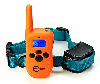 Esky Waterproof Rechargeable LCD Shock Control Pet Dog Training Collar with 100