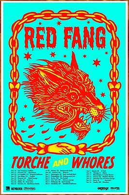 RED FANG | TORCHE 2016 Ltd Ed New RARE Tour Poster +FREE Metal Rock Poster!