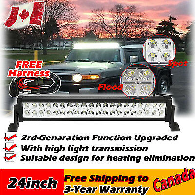 24inch 120w Offroad Led Light Bar Combo Work Offroad Driving Jeep SUV ATV 4WD 20