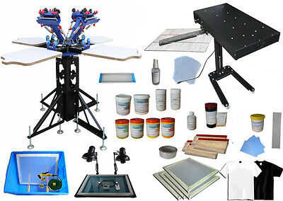 4 Color Screen Printing Micro-adjust Kit Double Rotary Press /Exposure /Dryer