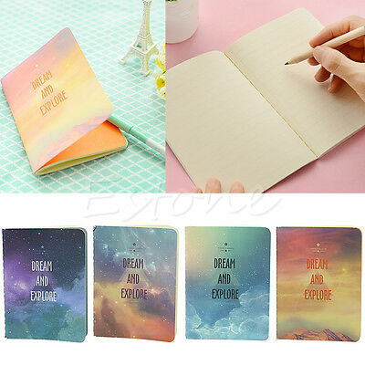 Novelty Galaxy Star Sky A6 Notebook Diary Book Exercise Composition Notepad New