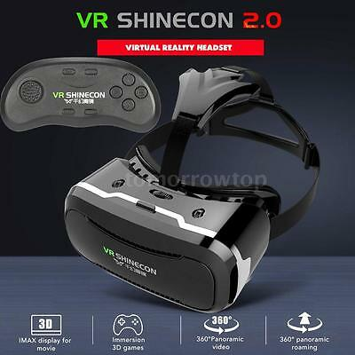 VR Box SHINECON 2.0 3D Virtual Reality Glasses Movie Game with Bluetooth Control