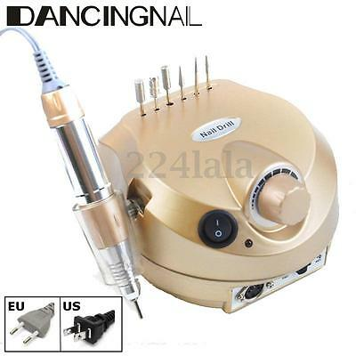 30000RPM Professional Manicure Electric Drill File Nail Art Pen Machine Gold
