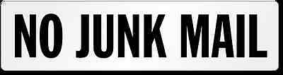 """""""NO JUNK MAIL"""" Letter box vinyl decal"""