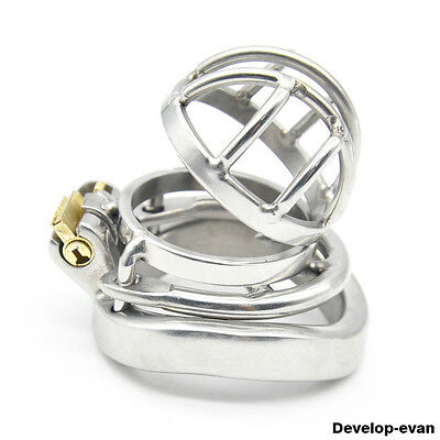 Latest Design Male Chastity Devices Stainless Steel Lock Super Short Cage A273-1