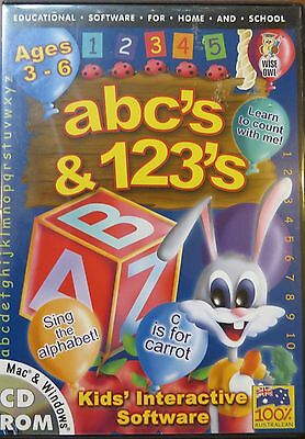 ABC's and 123's Kids interactive software..PC-CD ages 3 -6