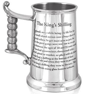 1+ Pint The King's Shilling Tankard with Free Engraving