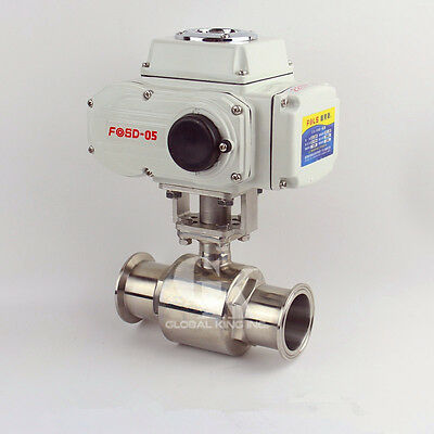 "3"" Stainless 304 Tri Clamp Motorized Electric Actuated Ball Valve AC220V"