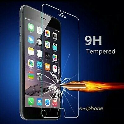 2x Tempered Glass Screen Protector iPhone 7 11 PRO Max XR X XS 6s 6 plus 8 4 rbg