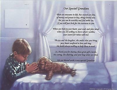 OUR GRANDCHILD GIRL/BOY Poem Personalized Print Name GRANDDAUGHTER GRANDSON