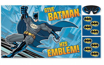 Batman Party Game like tail on Donkey Batman Party Supplies Poster Game