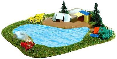Busch Lake & Camp Site Diorama - N Gauge - 8052