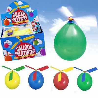 Balloon Helicopter Flying Toy Kids Boy Girl Party Bag Christmas Stocking Filler
