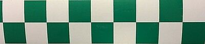 High Quality Green/white Chequered Reflective Tape 50Mm Width 7 Lengths