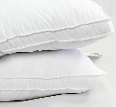 NEW FIRM Luxury Plush Down Alternative 2 Pack Bed Pillows Standard Side Gusset